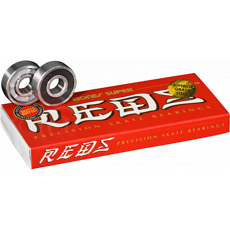 Bones Super Reds with Superior Grade steel 8 pack bearings for inline skating