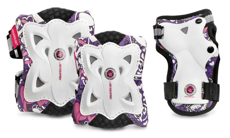 Powerslide Kids Pro Protection Set that looks like a butterfly
