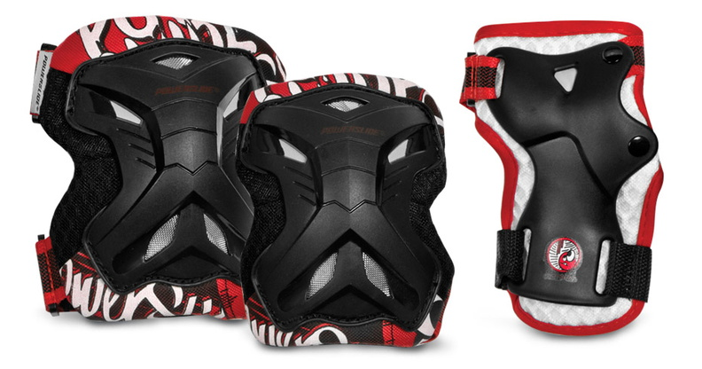 Powerslide Kids Pro Protection Set that looks like a robot
