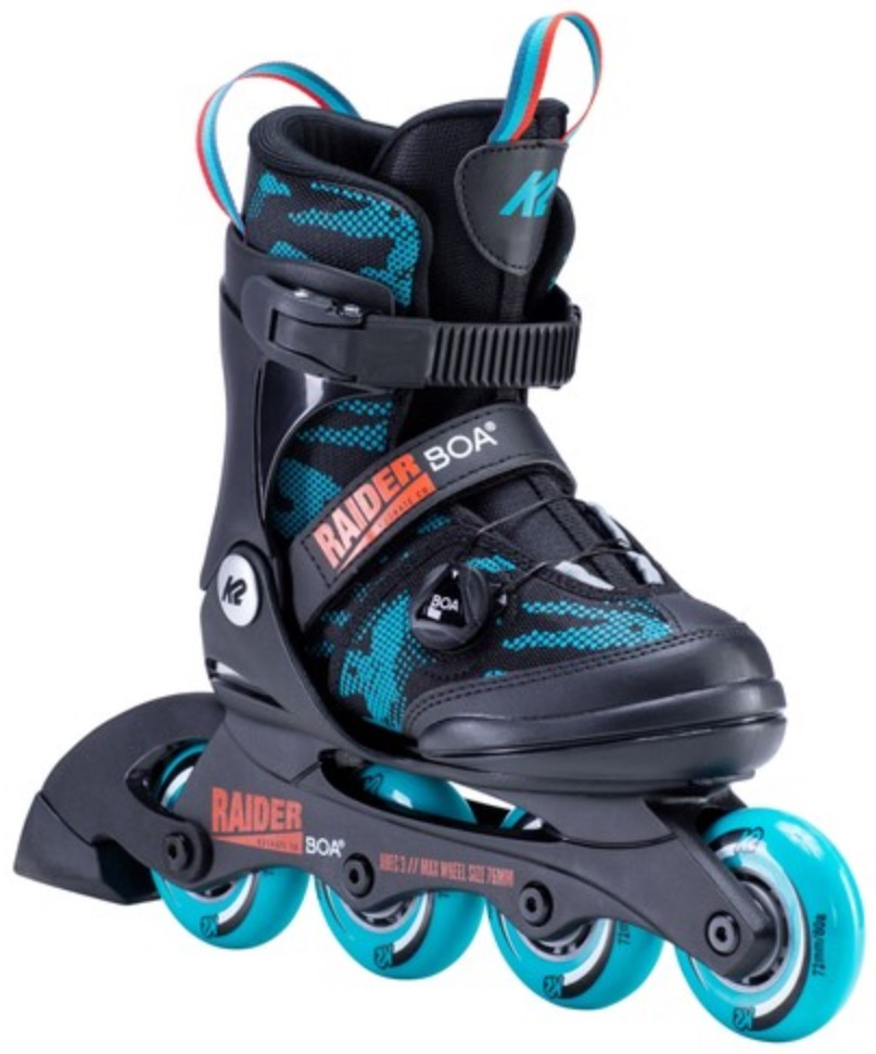 K2 Youth Skate Raider Boa with four wheels and Boa closure system