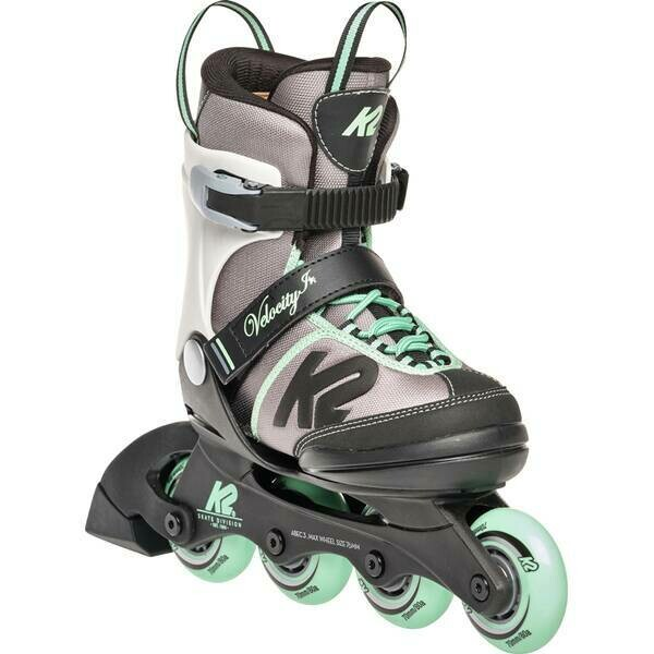 K2 Youth Skate Velocity Girl with light green colour touch and four wheels