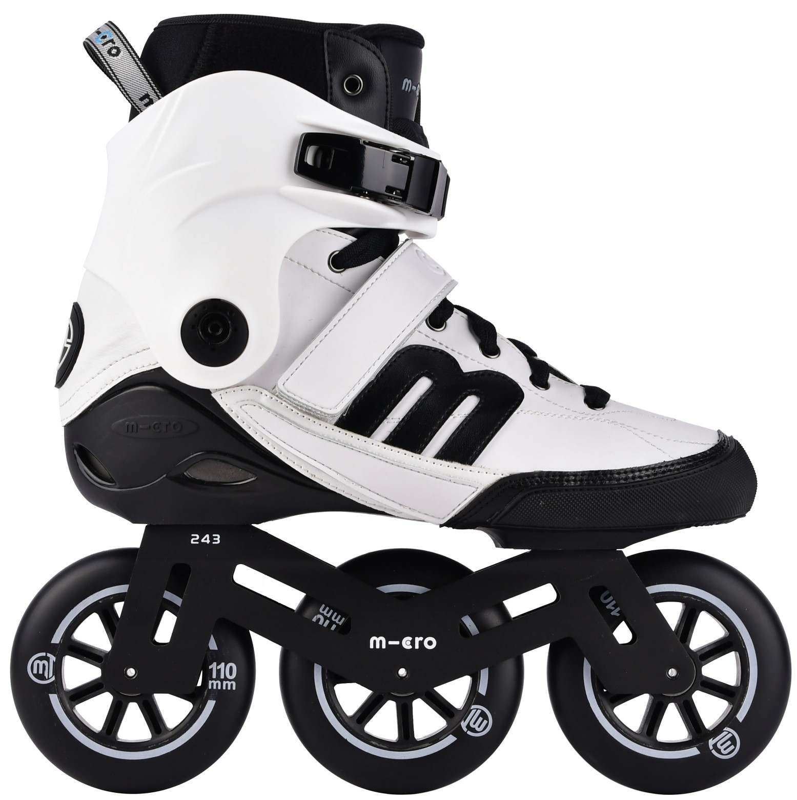 Micro white BEAT inline skate for urban use in side view