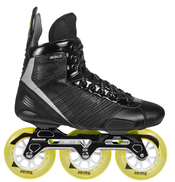 Powerslide Reign hockey Helios inline skate with three wheel trinity mount 1