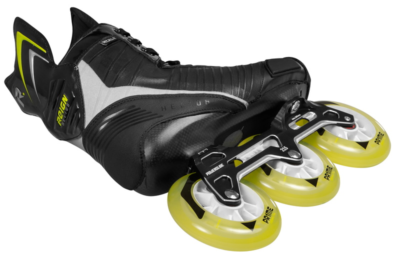Powerslide Reign hockey Helios inline skate with three wheel trinity mount 3