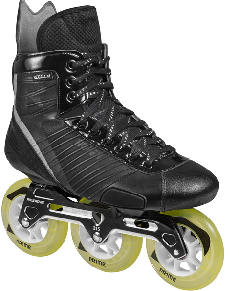 Powerslide Reign hockey Helios inline skate with three wheel trinity mount
