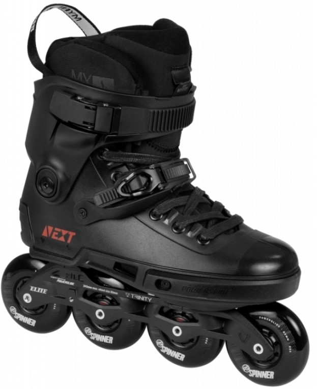 Powerslide Next Core Black 80 urban inline skate black side