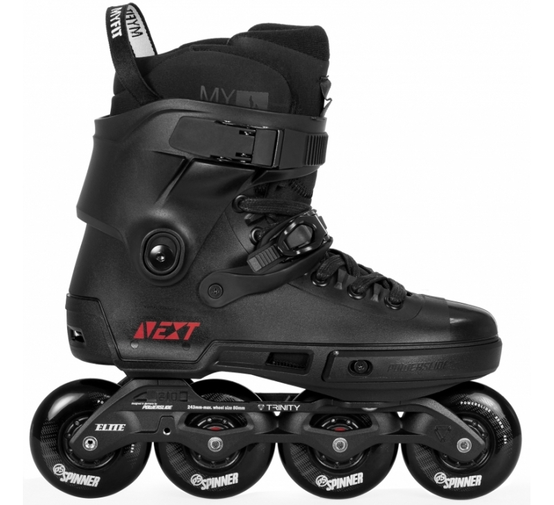 Powerslide Next Core Urban Black 80 inline skate outside