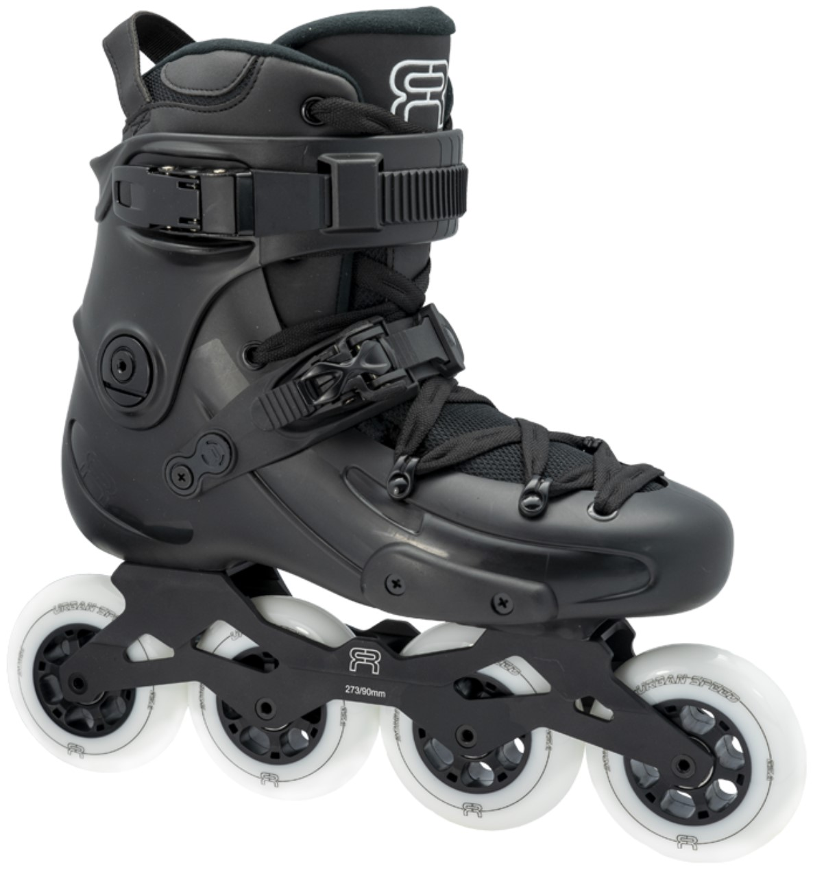 FR1 90 Black, the FR inline skate that is suitable for fitness because of its setup with four wheels of 90 mm