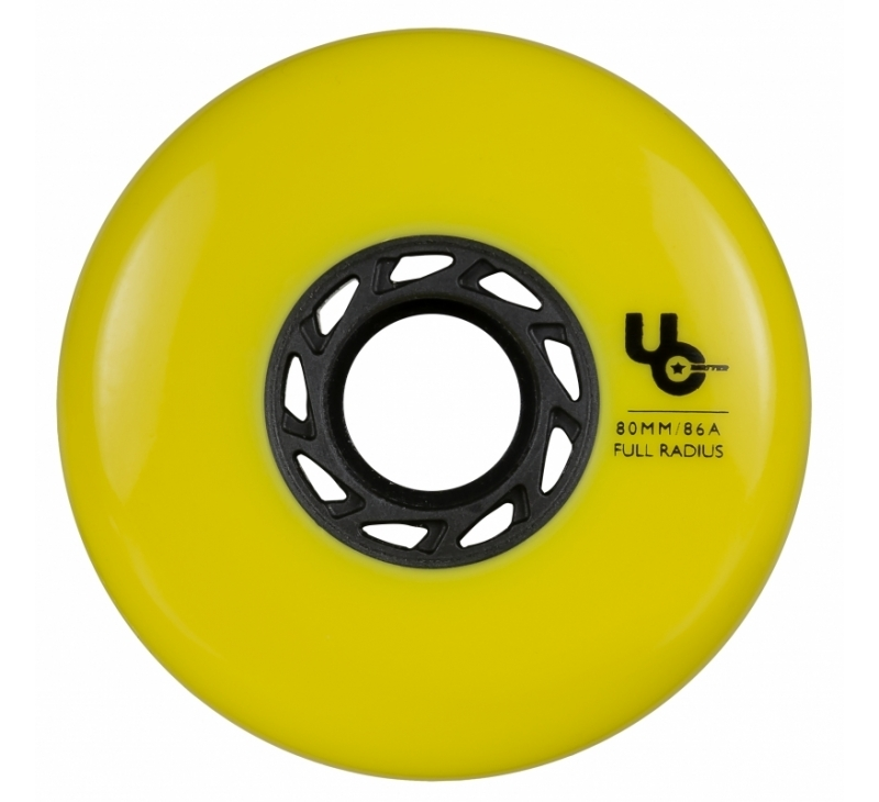 406186 UC Undercover Blank Yellow 80mm 86A Full wheel 2019 view1
