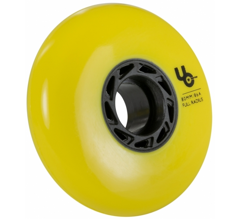 406186 UC Undercover Blank Yellow 80mm 86A Full wheel 2019 view3