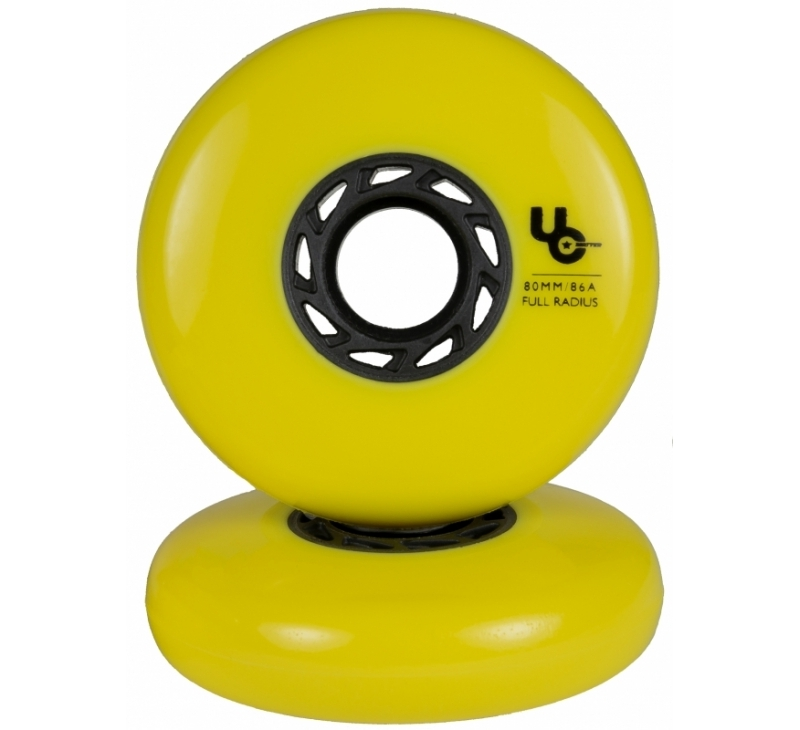 406186 UC Undercover Blank Yellow 80mm 86A Full wheel 2019 view4