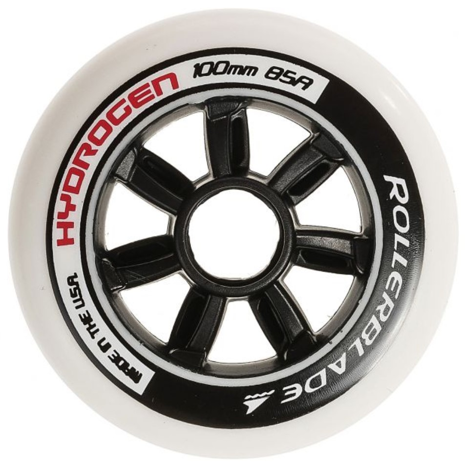 White Hydrogen skeeler wheel of 100 mm and 85A durometer
